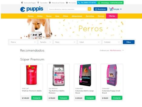 Tienda online de Puppis