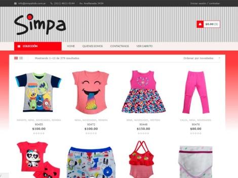 Tienda online de Simpa Kids (Mayorista)