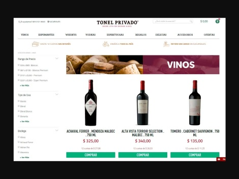 Tienda online de Tonel Privado | Vinoteca