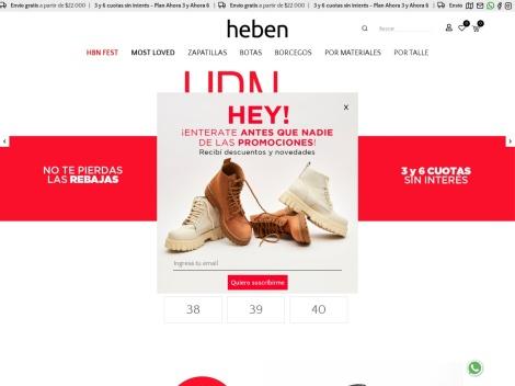 Tienda online de Zapatos Heben | Calzado Femenino