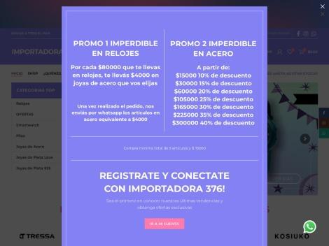 Tienda online de Importadora 376