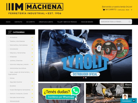 Tienda online de Machena – Ferreteria Industrial