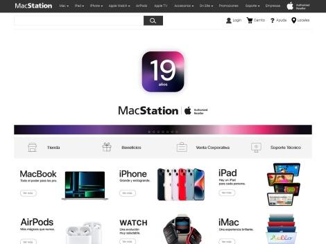 Tienda online de Mac Station Argentina