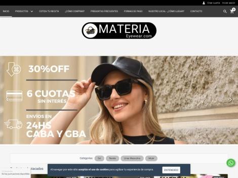 Tienda online de Materia Eyewear ✅