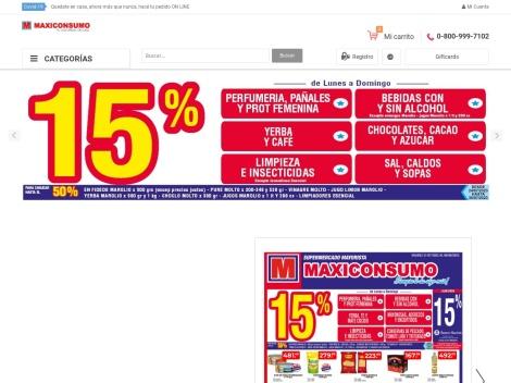 Tienda online de Maxiconsumo (Supermercado Mayorista)