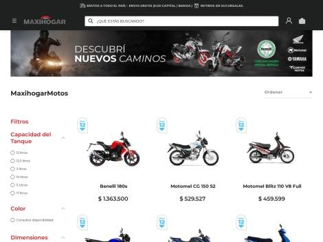 Tienda online de Maxihogar Motos