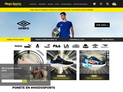Tienda online de Mega Sports Tienda Online
