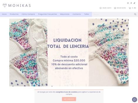 Tienda online de Mohikas Lencería + Bikinis