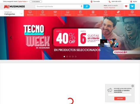 Tienda online de Musimundo Argentina