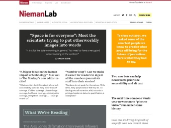 The Nieman Journalism Lab at Harvard University