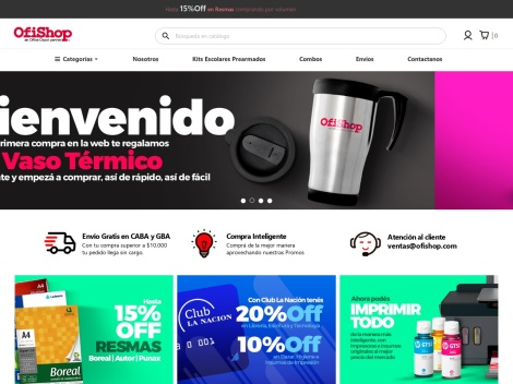 Tienda online de Ofishop – Artículos de oficina