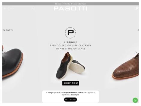 Tienda online de Pasotti