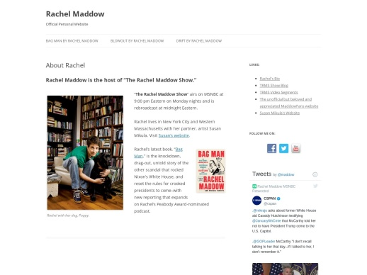 Rachel Maddow Official Personal Website