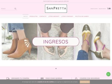 Tienda online de San Pretta Zapatos