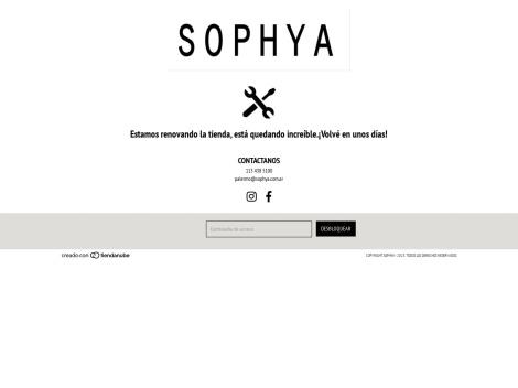 Tienda online de Sophya