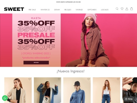Tienda online de Sweet E-Shop