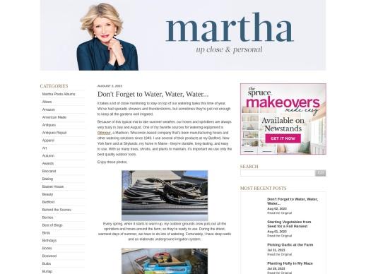 The Martha Blog