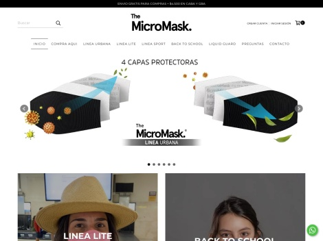 "Tienda online de Barbijos Tapabocas ""The Micromask"" | Venta Online"