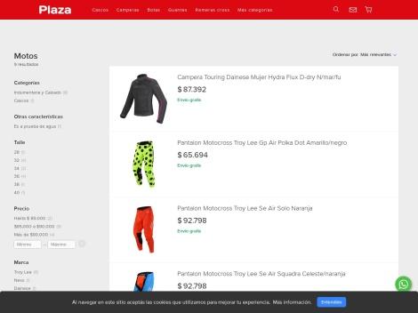 Tienda online de Plaza Motos