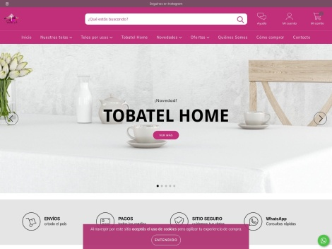 Tienda online de Telas Tobatel (Mayorista)