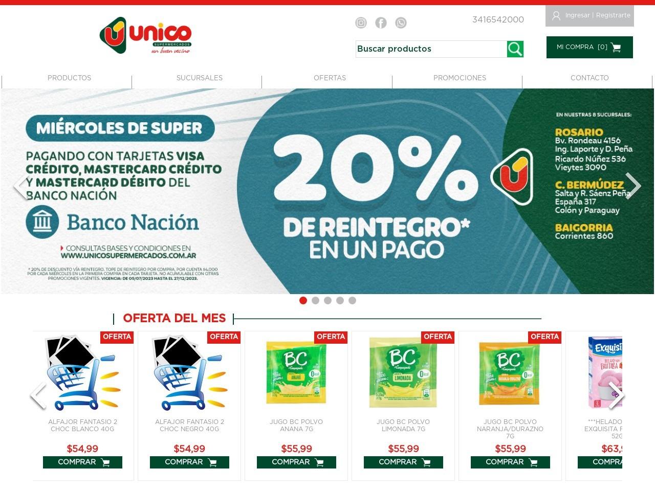 Tienda online de Unico Supermercados