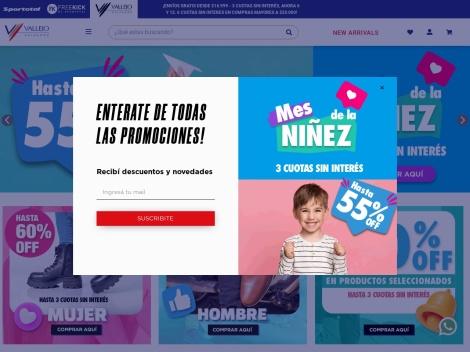Tienda online de Vallejo Calzados