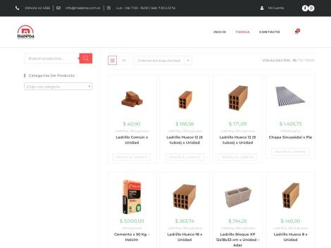 Tienda online de Madersa | Materiales para la Construcción