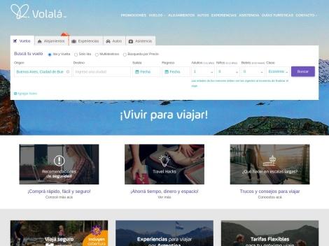 Tienda online de Volalá Viajes Online