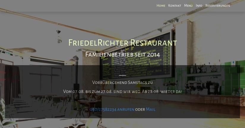 Friedel Richter Restaurant 1