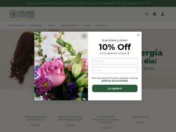 Flores para tu casa