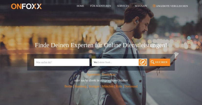 OnFoxx – Das Portal für Online-Dienstleister