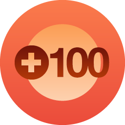 100 followers badge