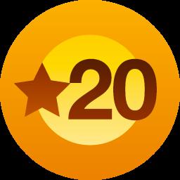20 Likes achievement badge