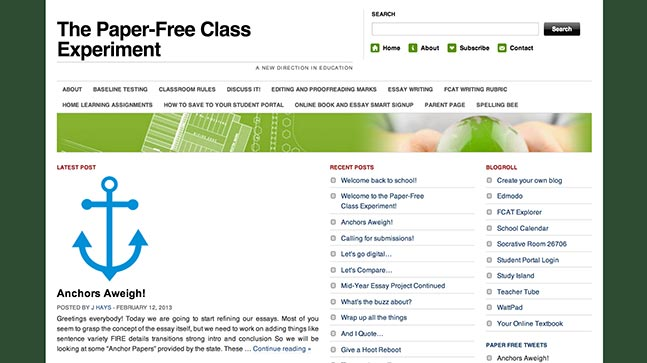 "<a href=""http://paperfreeclass.wordpress.com/"">The Paper-Free Class Experiment</a>"